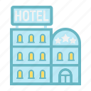 apartment, building, business, hotel, motel, tourism, travel icon