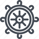 boat, cruise, ship, steering, travel, wheel icon