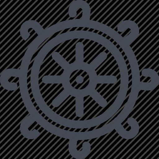boat, cruise, ship, steering, travel, wheel icon
