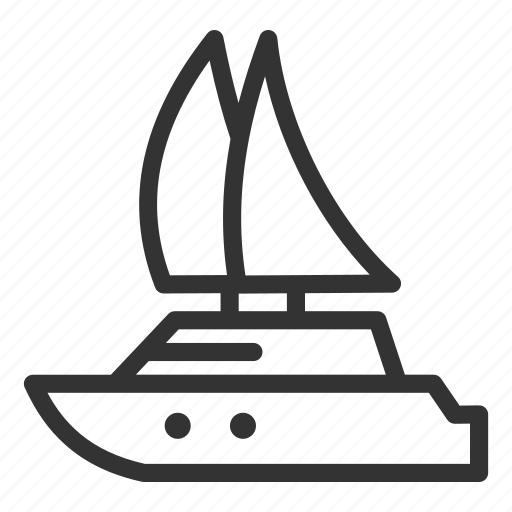 boat, sailing, ship, tourism, travel, vessel, yacht icon