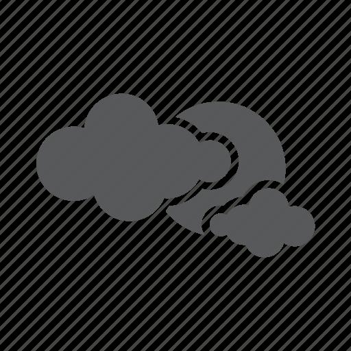 cloud, sky, sun, weather icon
