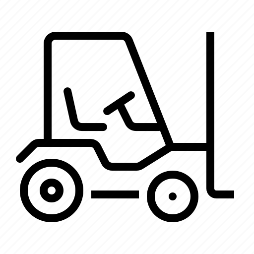 cart, forklift, lifter, lifting, mover, package, work icon
