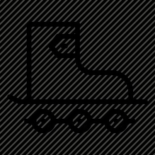 Roller, shoe, skate, skating, wheels icon - Download on Iconfinder