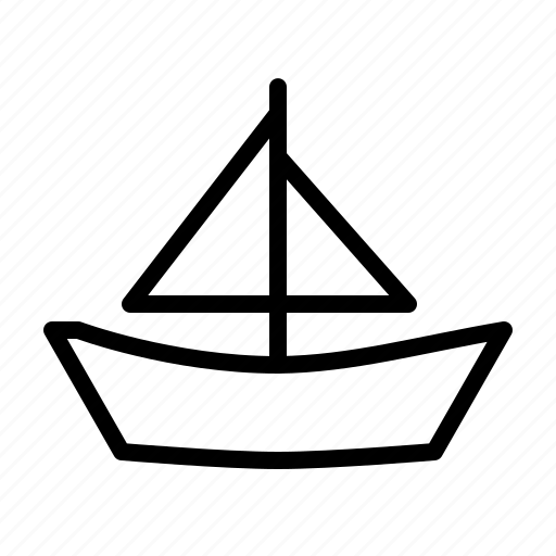 boat, sail, sailing, sea, travel, vacation, yacht icon