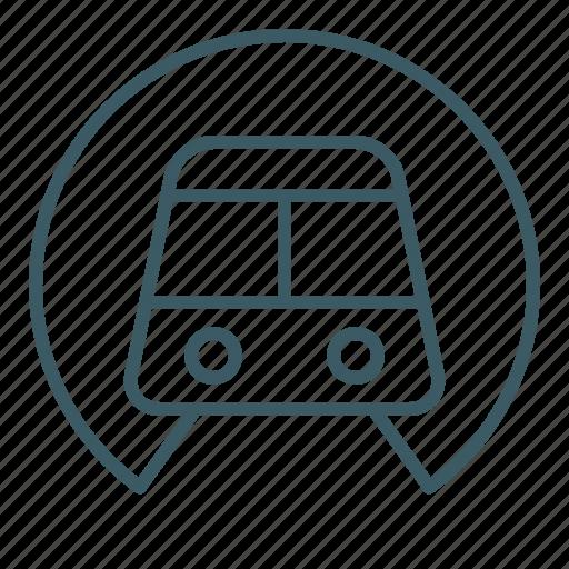 public, subway, train, transport, tunnel, underground icon