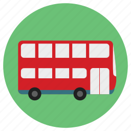 bus, fun, holiday, london, sight, sight seeing, sightseeing, tour, touring, transportation, travel, vacation icon