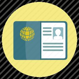 customs, fun, holiday, id, identification, pass, passport, transportation, travel, vacation, visa icon