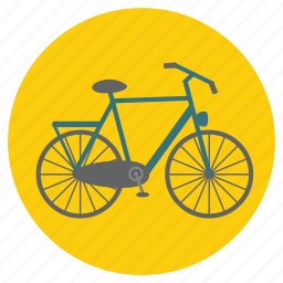 bicycle, bicyclist, bike, cycle, fun, holiday, pedal, pedal cycle, pushbike, sport, transportation, travel, vacation icon