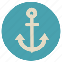 anchor, boat, fun, holiday, sail, sea, ship, transportation, travel, vacation icon