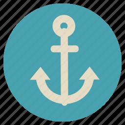 anchor, boat, fun, holiday, sail, sea, ship, transportation, travel, vacation icon