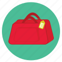 bag, fun, holiday, label, luggage, transportation, travel, vacation icon