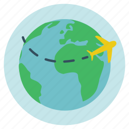 fly, fun, global, globe, holiday, plane, tou, transportation, travel, turn, vacation icon