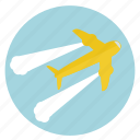 flight, fly, flying, fun, holiday, jet, plane, tour, transportation, travel, vacation icon