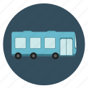 bus, fun, holiday, round, tour, transportation, travel, trip, vacation, voyage icon