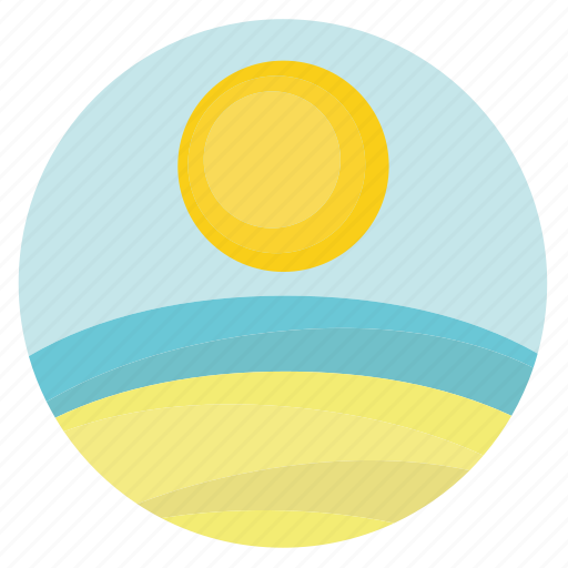 beach, fun, getaway, holiday, sand, sandy, sea, sun, sunny, transportation, travel, vacation, water icon