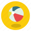 activity, ball, ballon, beach, beach ball, color, colorful, fun, game, holiday, play, round, sun, transportation, travel, vacation icon