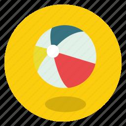 activity, ball, ballon, beach, beach ball, color, colorful, fun, game, holiday, play, round, sun, transportation, travel, vacation icon