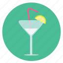 alcohol, cold, cool, drink, enjoy, fun, glass, holiday, lemon, martini, tonic, transportation, travel, vacation, wedge, welcome icon