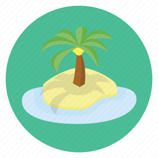 float, fun, getaway, happy, holiday, island, lake, oriental, palm, transportation, travel, tree, vacation icon