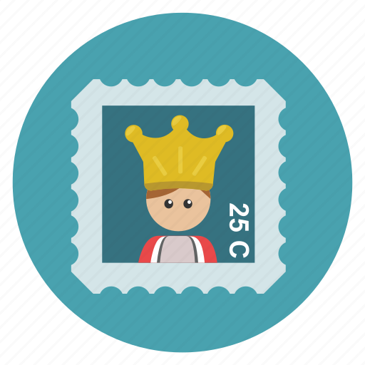 cute, frame, fun, funny, holiday, king, london, mail, post, postcard, spain, stamp, transportation, travel, vacation icon