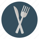 breakfast, delicious, dinner, eat, food, fork, fun, holiday, knife, leisure, meal, restaurant, transportation, travel, vacation icon