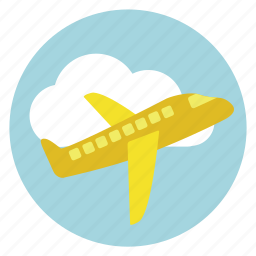 air, bus, cloud, flight, fly, fun, holiday, transportation, travel, vacation icon