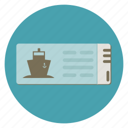 ferry, freight, fun, holiday, ocean, pass, passport, print, sea, ship, ticket, transportation, travel, vacation icon