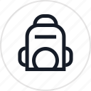 backpack, bag, good icon