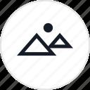 pyramid, desert, giza icon