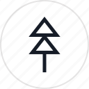 outdoors, pine, travel, tree icon