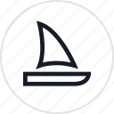 laguna, outdoors, sail, travel icon