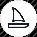 travel, sail, laguna, outdoors icon