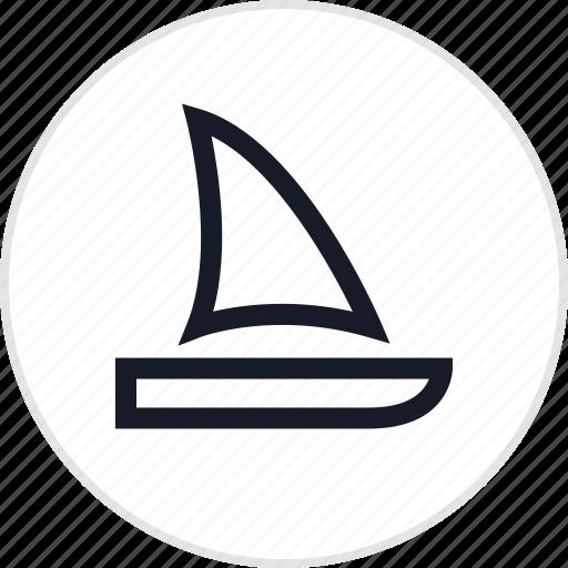 laguna, outdoors, sail, travel icon