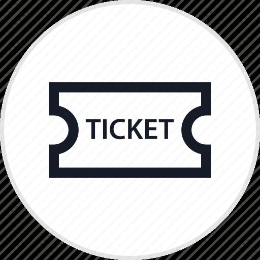 event, recreation, ticket, travel icon