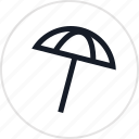 beach, shade, umbrella icon