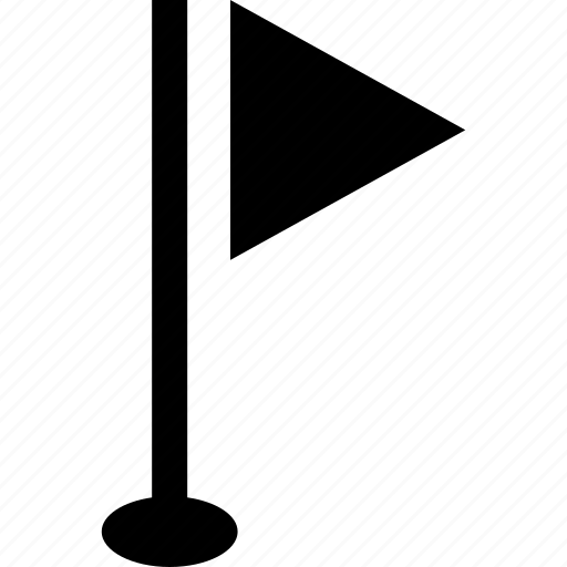 flag, golf, post, recreative icon