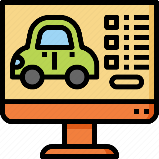 booking, car, online, rent, transportation, travel, vacation icon