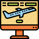 airplane, booking, checkin, flight, online, reservation, travel icon