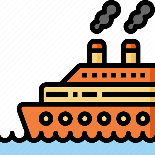 cruise, holiday, ship, summer, transportation, travel, vacation icon