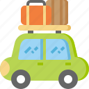 baggage, camping, car, luggage, transportation, travel, vacation icon