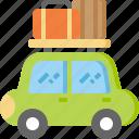 baggage, camping, car, luggage, transportation, travel, vacation