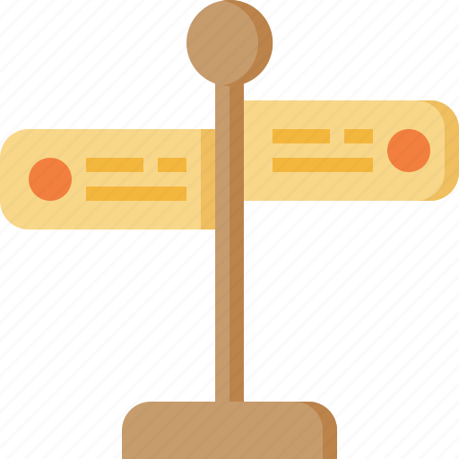 direction, fingerpost, guide, label, sign, tourist, travel icon