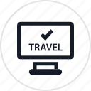 check, fun, hotel, in, outdoors, recreation, travel icon