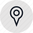 gps, locate, outdoors, outside, pin, recreation, travel icon
