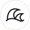 fun, ocean, outdoors, recreation, surfing, travel, waves icon