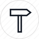 fun, outdoors, recreation, road, sign, travel, way icon