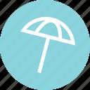 beach, outdoors, outside, recreation, shadow, travel, umbrella icon
