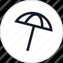 beach, fun, outdoors, recreation, shade, travel, umbrella icon