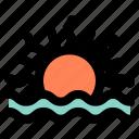 sunset, sunrise, sea, vacation