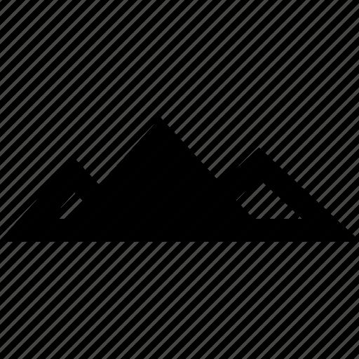 egypt, giza, pyramid, three icon